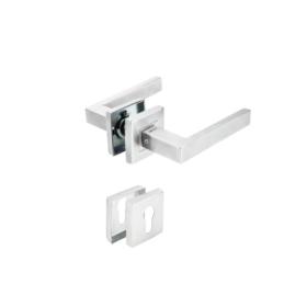 Bộ khóa tay nắm nắp chụp dạng vuông kiểu chữ nhật (tay nắm - thân khóa - ruột)