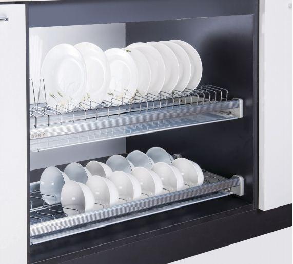 Giá bát đĩa hai tầng cố định cho tủ bếp trên