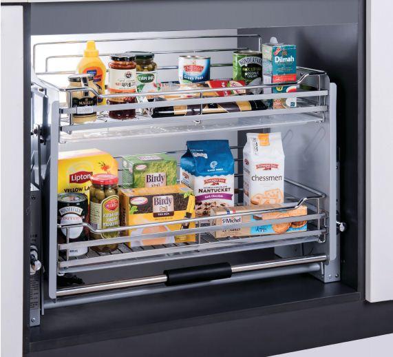 Giá nâng hạ đa năng inox nan cho tủ bếp trên